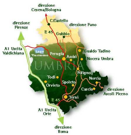 Mappa Dell Umbria Italia.Umbria Map Umbria Mappa